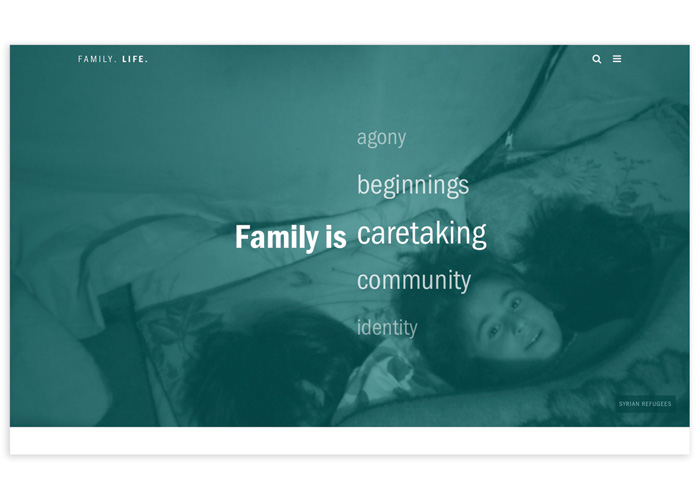 Family. Life. Website by School: Syracuse University