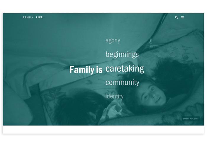 Family. Life. Website by School: Syracuse University