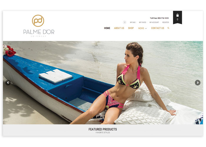 Palme D'Or Swimwear Website by DECOGRAPHIC