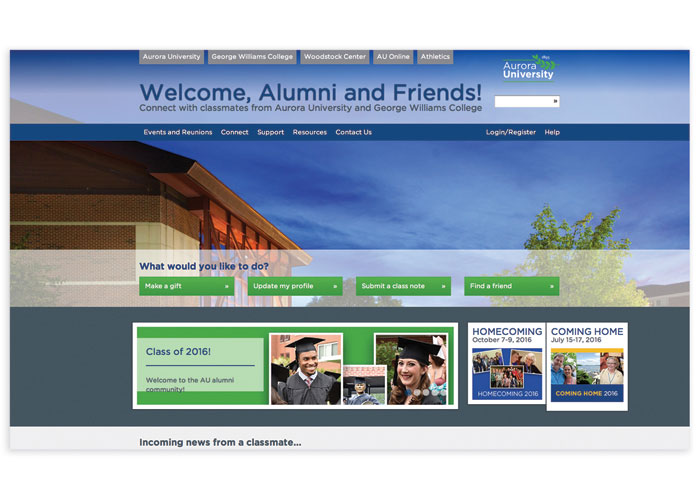 Alumni and Friends Website