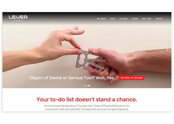Lever Gear Website by 828:design