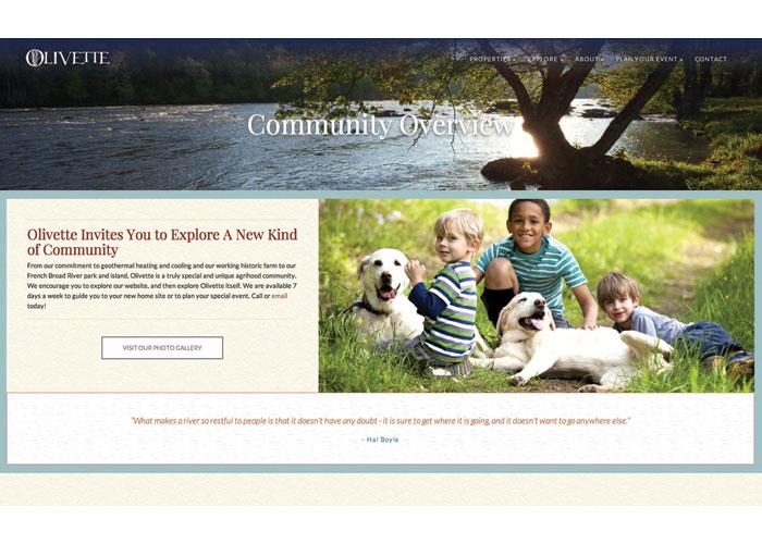 Olivette Website by 828:design