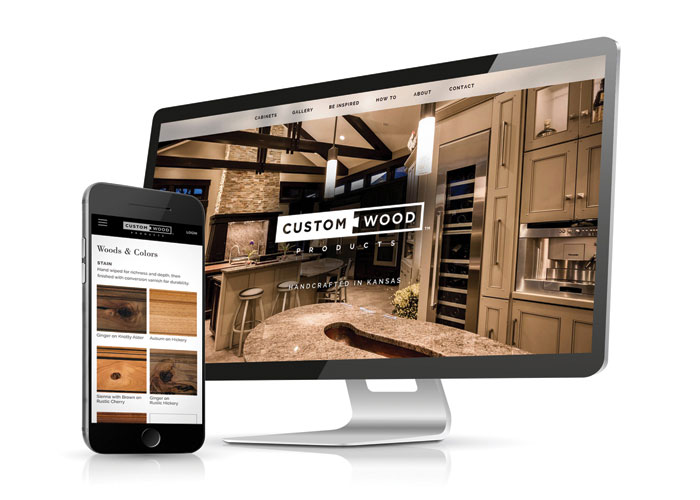 Custom Wood Products Mobile Site by Imagemakers Inc.