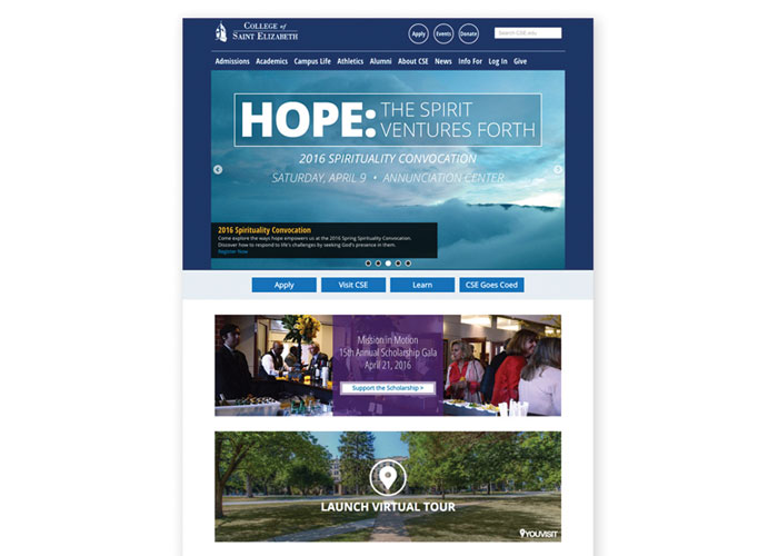College of Saint Elizabeth Site Redesign by College of Saint Elizabeth