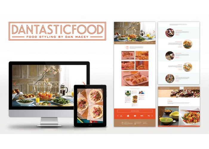 Dantasticfood: Food Styling Website by Pixel Parlor