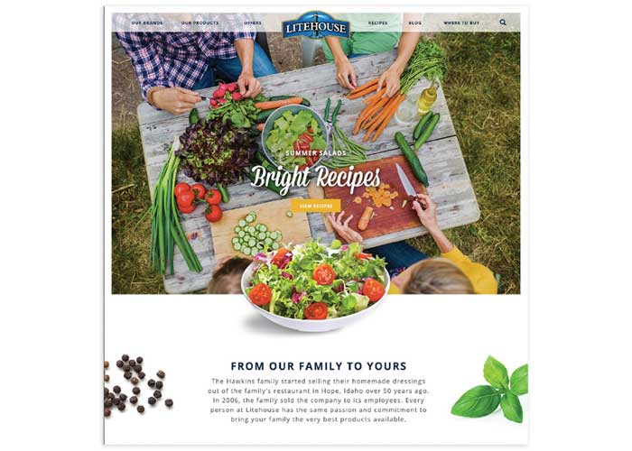 Litehouse Foods Site Redesign by Stag&Hare