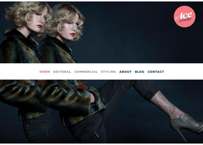 AceStylist Website by Ellen Bruss Design