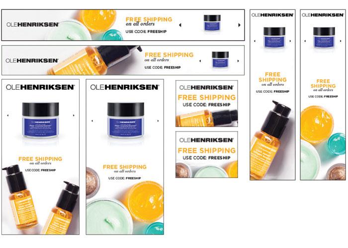 Ole Henriksen Remarketing Ads