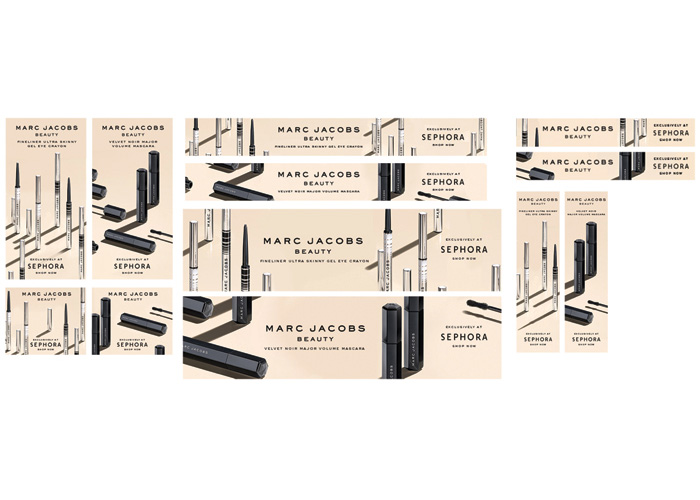 Marc Jacobs Beauty Banner Ads by Z&R Design