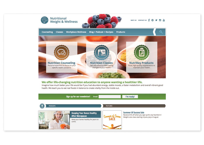 Nutritional Weight & Wellness Website by 5 by 5 Design, Inc.