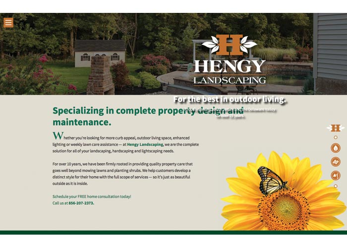 Hengy Landscaping Website