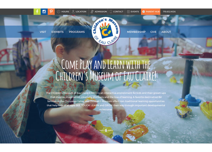 Children#s Museum of Eau Claire Website by JB Systems
