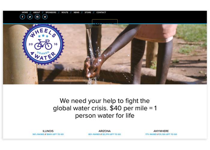 Wheels4Water Website by Rule29