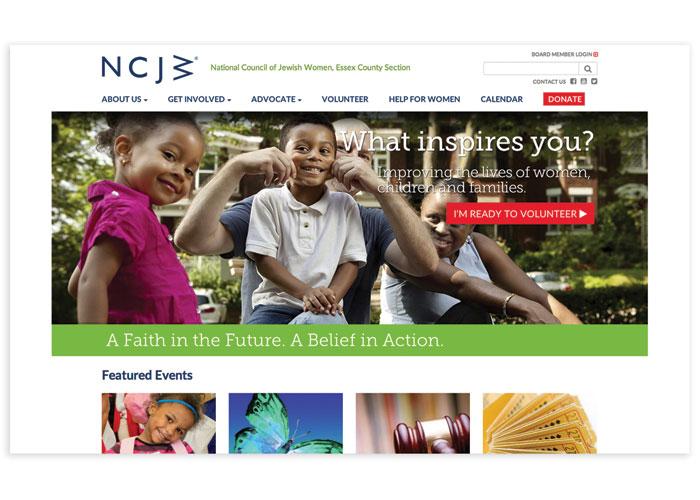 NCJW Essex Website by LoBello Design LLC