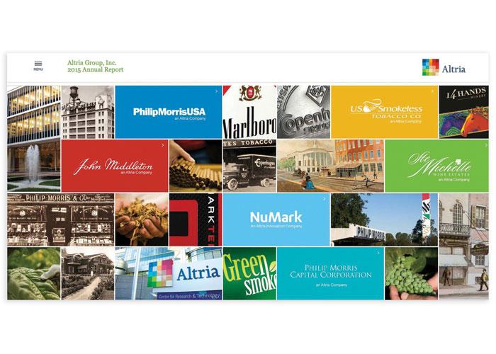 Altria 2015 Annual Report Website by Andra Design