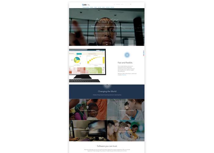 SAS Homepage Redesign by SAS