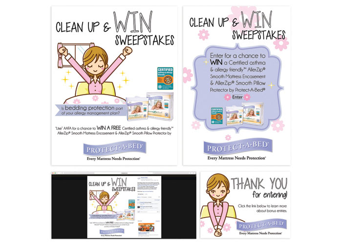 Clean Up & WIN Sweepstakes by Protect-A-Bed