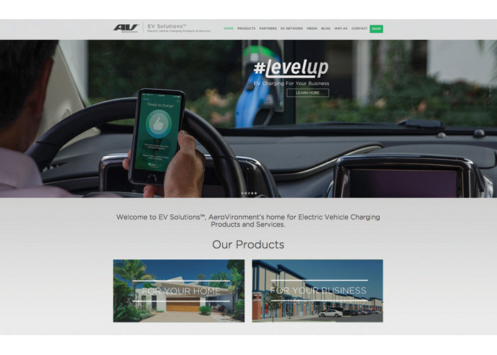EV Solutions Responsive Website by AeroVironment