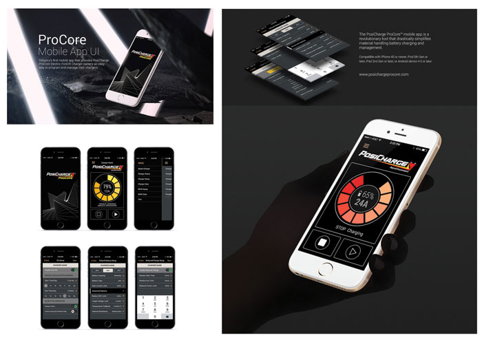 PosiCharge ProCore Mobile App UI