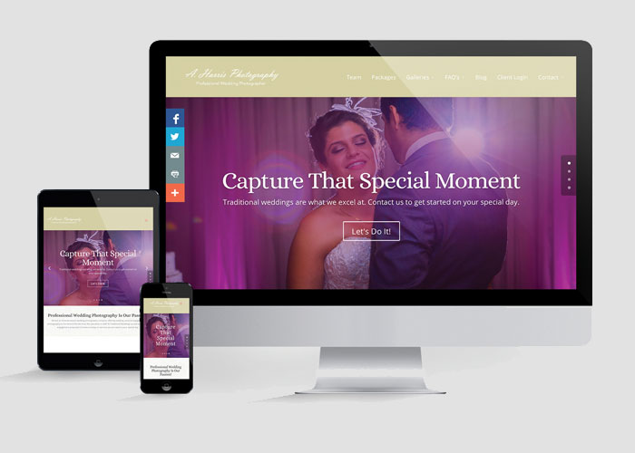 A. Harris Photography Website Redesign by Gabe Diaz Graphic Design Inc.