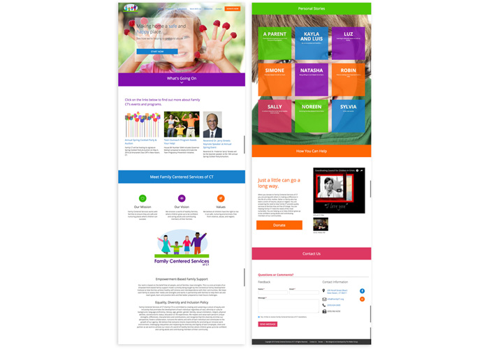 Family Centered Services Website by The Walker Group