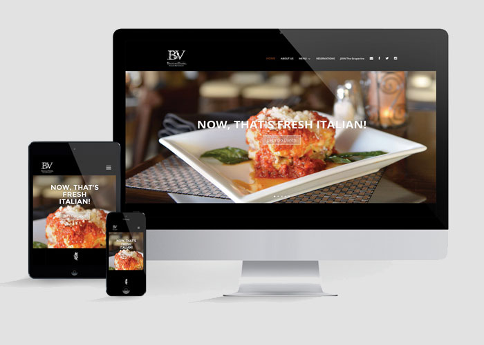 Bacco and Venere Italian Restaurant Website Redesign by Gabe Diaz Graphic Design Inc.