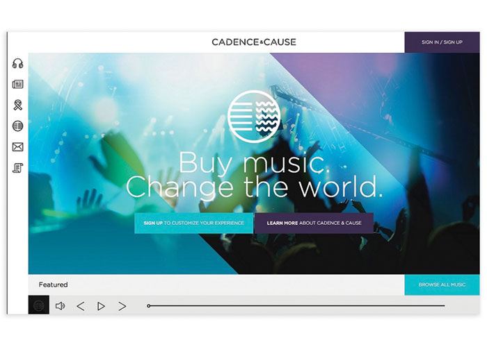Cadence & Cause Website by LRXD