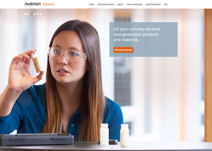 Andersen Careers Site by Peggy Lauritsen Design Group