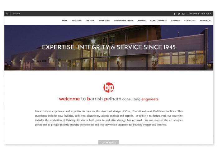 Barrish Pelham Website by MiDESign & Marketing Consultancy