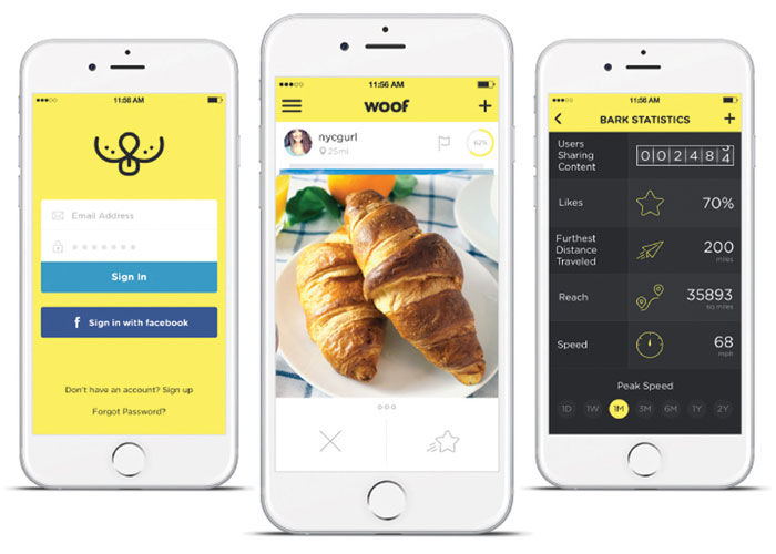Woof Social App Design by Miskowski Design LLC