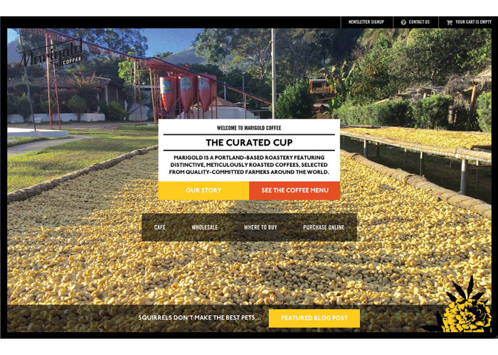 Marigold Coffee E-Commerce Website by York & Chapel