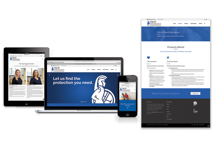 Troy Insurance Responsive Website 2016