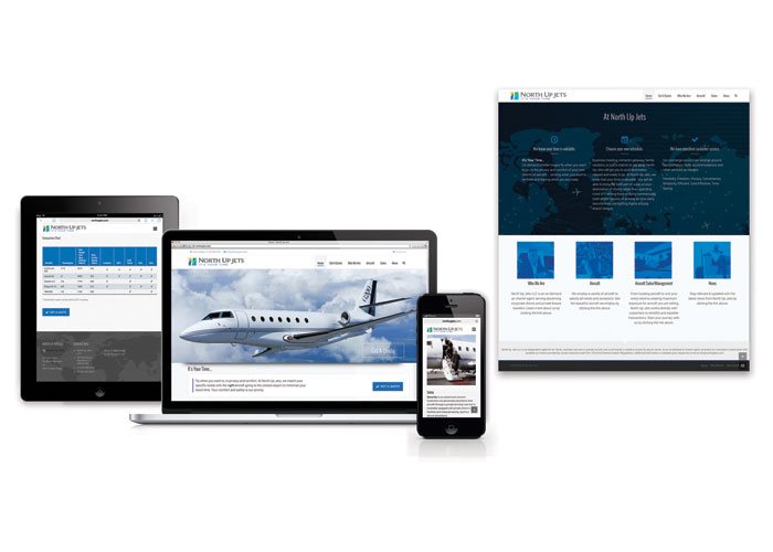 North Up Jets Responsive Website by TFI Envision, Inc.