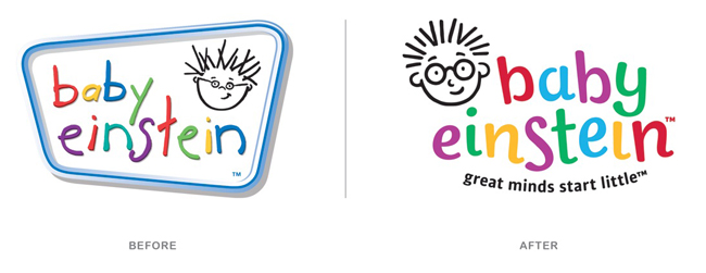 Logo Comparisions Baby Einstein