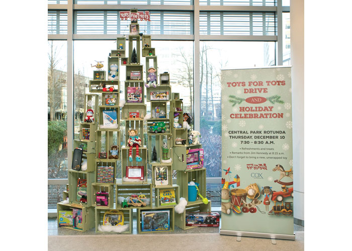 Toys for Tots Donation Display
