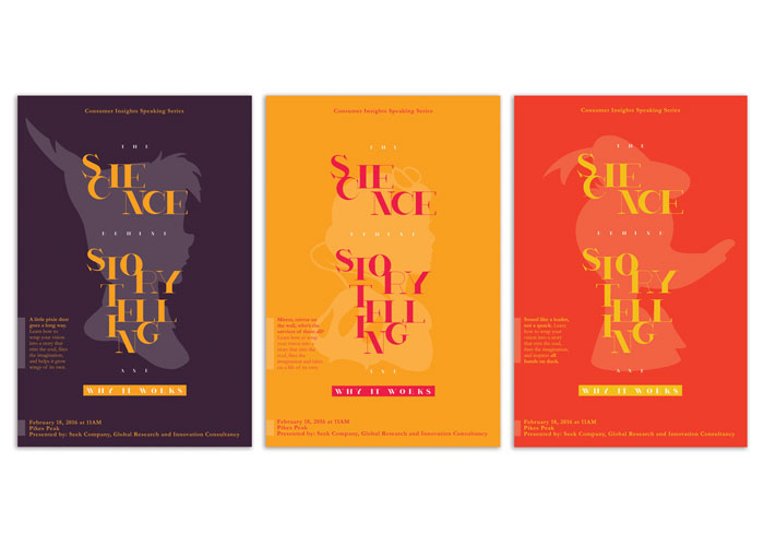 The Art of Storytelling Speaking Series Posters