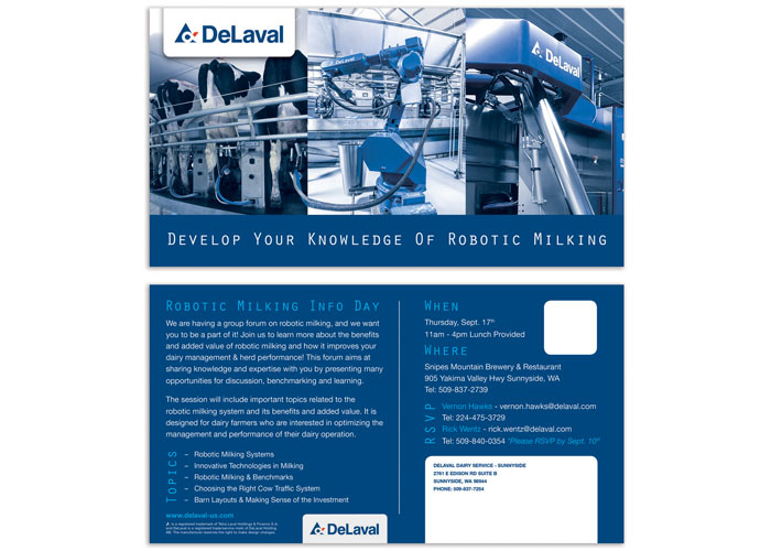 Robotic Milking Info Postcard