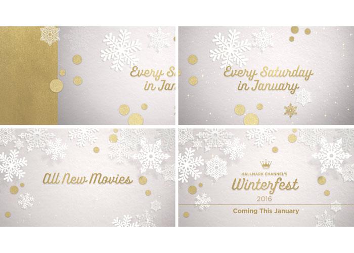 Hallmark Channel's Winterfest On-Air Stunt Graphics