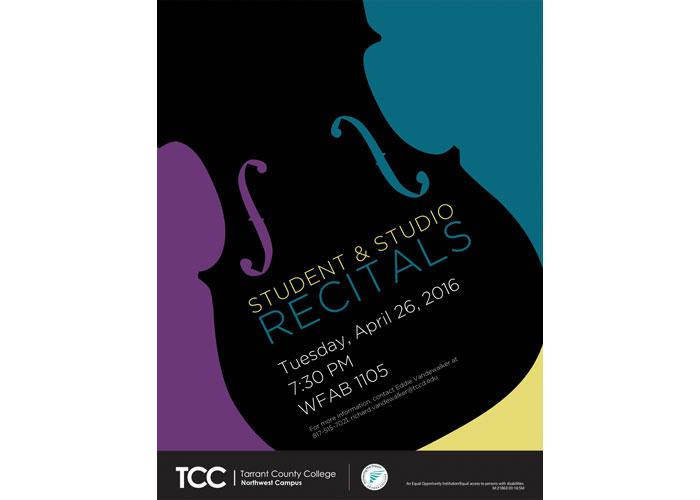 Studio and Student Recitals Poster