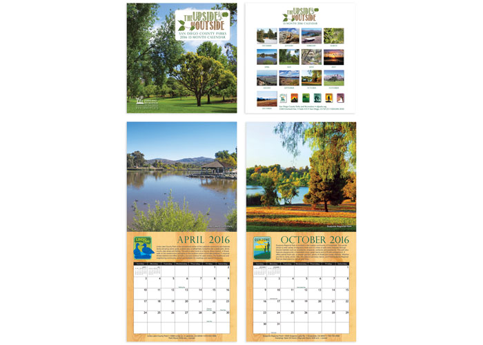 The Upside of Outside: San Diego County Parks 2016 Calendar