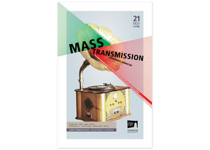 Mass Transmission - TU Choirs Performance Poster