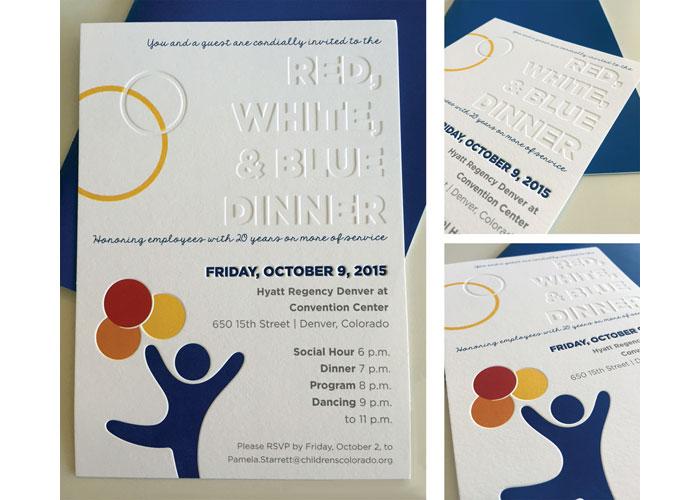 Red, White & Blue Dinner Invites