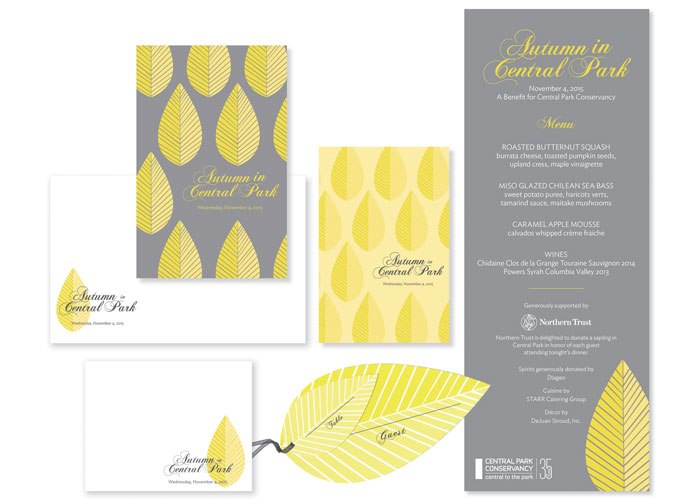 Autumn in Central Park Invitation Series