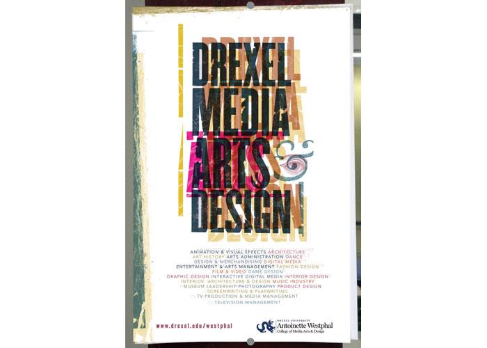 Drexel University Westphal College of Media Arts & Design Recruitment Poster