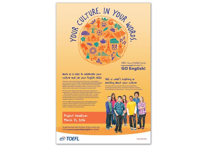 TOEFL Go English Poster