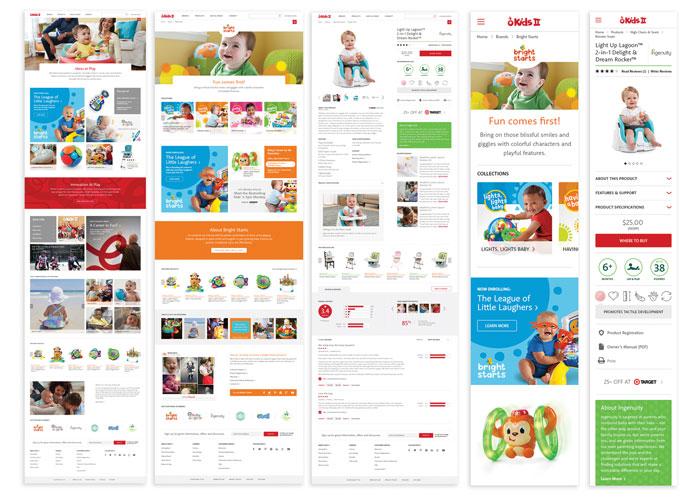 Kids II Website Redesign
