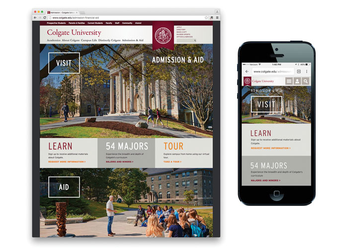 Admission Landing Page