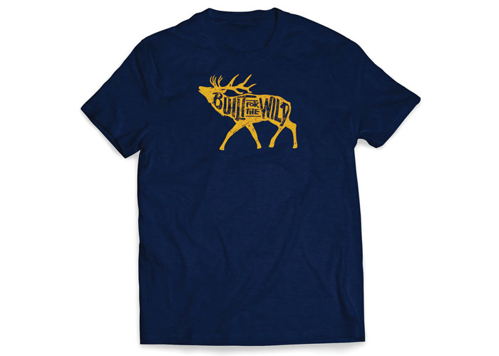 Built For The Wild Bugling Elk Tee