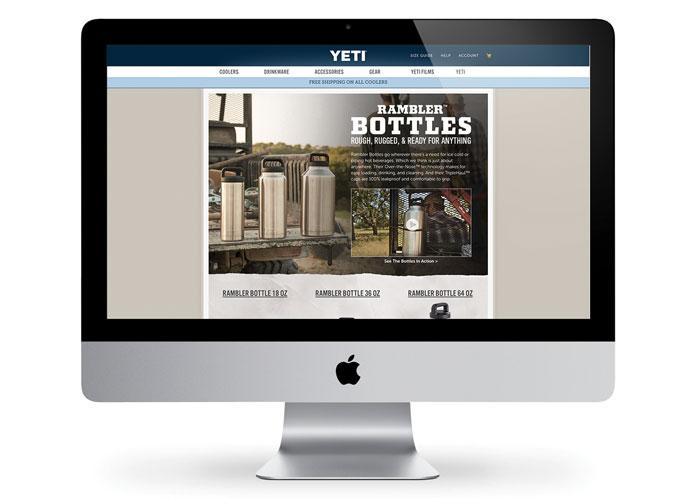 YETI Rambler Bottles Landing Page