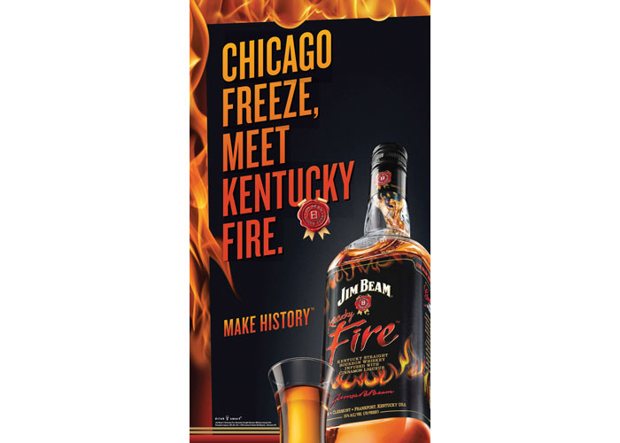Jim Beam Fire Chicago Launch OOH